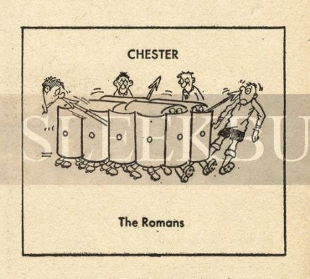 VINTAGE Football Print CHESTER - THE ROMANS Funny Cartoon